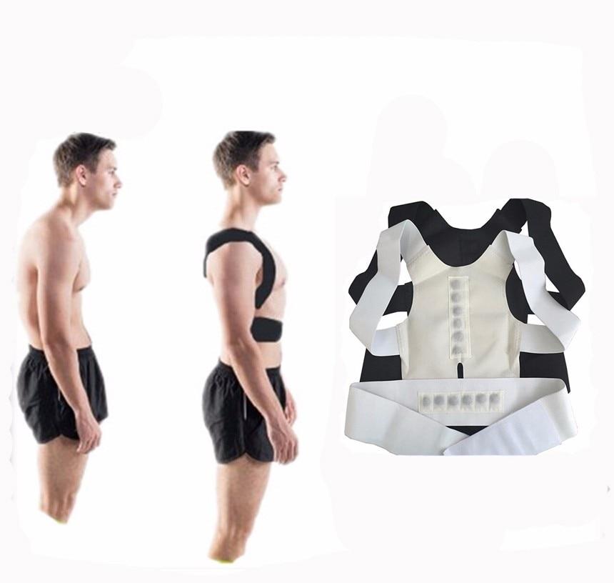 Unisex Health XXL size Posture Corrector Tourmaline Belt Correcteur For The Back  Adjustable Magnetic Shoulder