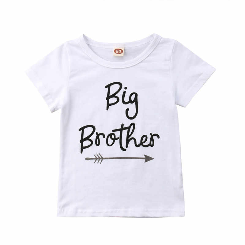 ... Family Matching Clothes Cute Big Brother T-Shirt Little Sister Cotton  Short Sleeve Letter Print ... 4d43fb9e52bd