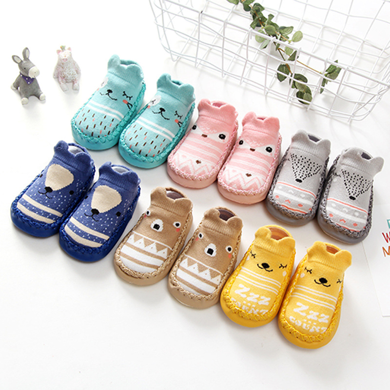 Spring And Autumn New Style   Baby Cartoon Baby Toddler Shoes Socks Non-Slip Soft-Soled Shoes Children Floor Socks 0-1-3-Ye