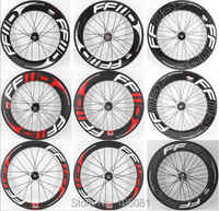 New 700C Track Fixed Gear Bike 3K UD 12K full carbon fibre tubular clincher tubeless rims carbon bicycle wheelsets Free shipping