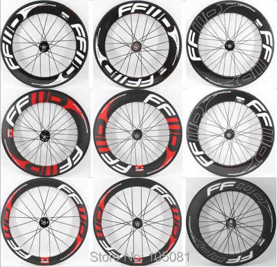 Nouveau vélo à pignon fixe 700C 3K UD 12K pleine fibre de carbone tubulaire pneu tubeless jantes carbone roues de vélo livraison gratuite