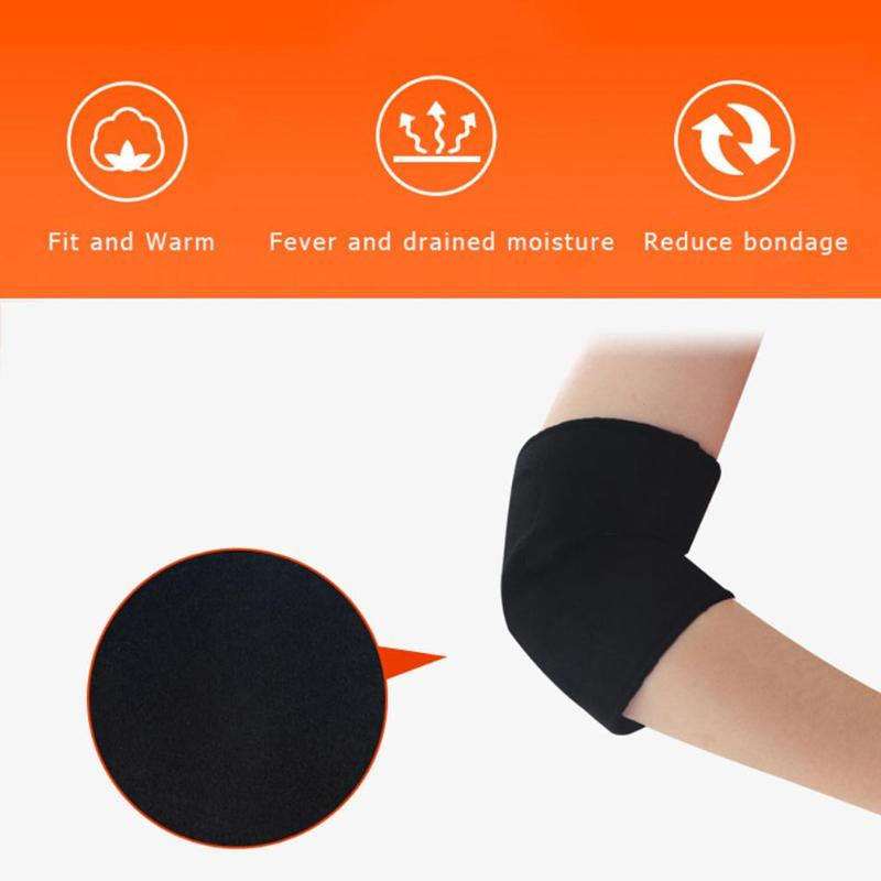 Magnetic Therapy Self-heating Elbow Support Pads Sports Safety Protector Self-heating Keep Warm Supporting