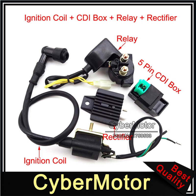 Adjustable DC Fired Racing CDI Ignition Unit GY6 Quad 50cc to 400cc