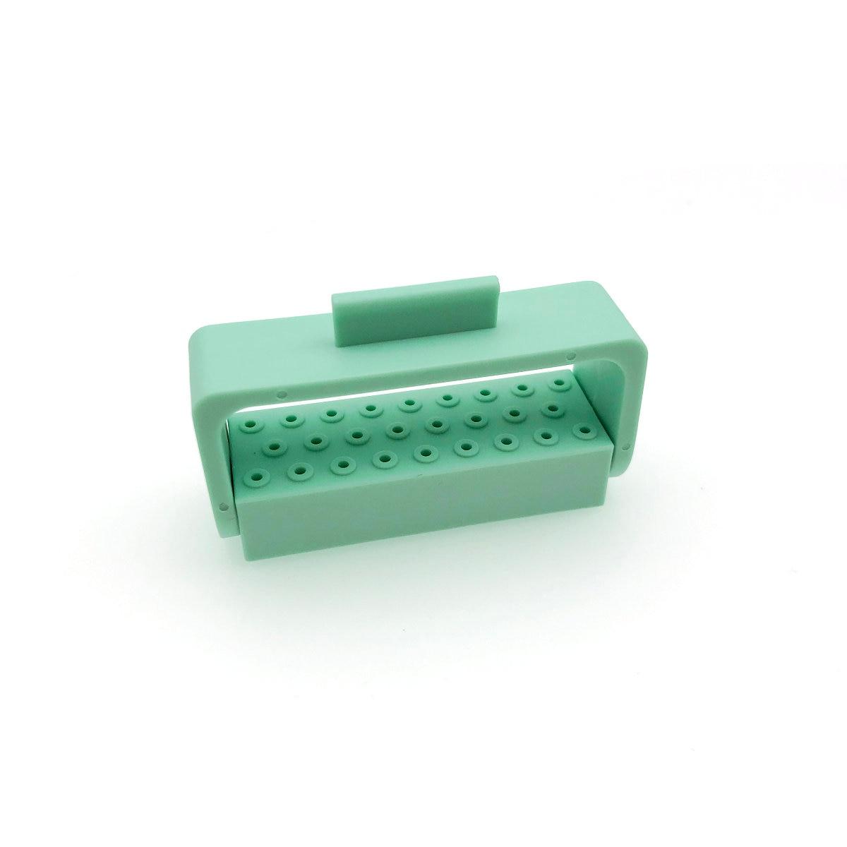 1 Pc Dental Bur Halter 26 Löcher Dental Diamant Bur Halter Stehen Für Hohe Geschwindigkeit Diaomond Burs Autoklav Sterilisator Fall