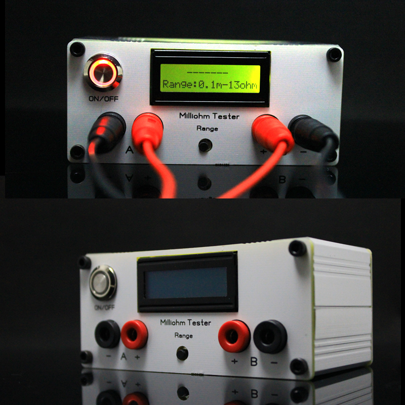 DYKB Milliohm Meter High precision Digital Micro-ohm Resistance Tester LCD display Four-wire test + Kelvin clip DC 12V  power DYKB Milliohm Meter High precision Digital Micro-ohm Resistance Tester LCD display Four-wire test + Kelvin clip DC 12V  power
