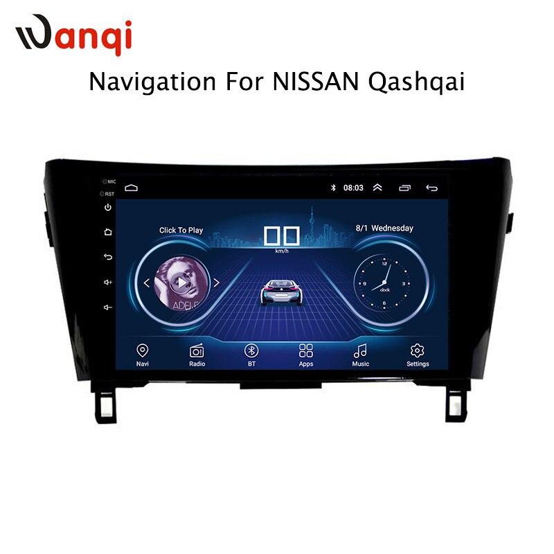 10.1 pouce Android 8.1 Voiture DVD GPS Pour Nissan qashqai X-trail 2016-2018 Système de Navigation Stéréo Bluetooth soutenir la caméra arrière