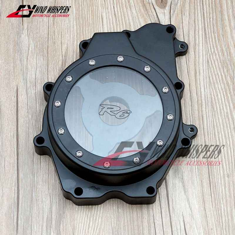 Motorcycle modification transparent Engine Stator Cover Crankcase For Yamaha YZF R6 YZF-R6 2003 2004 2005 R6S 2006