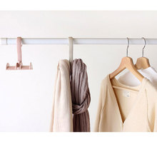 Rotatable Quality Wardrobe Hook Wardrobe No Nail Plastic Hook Creative Hanging Tie Multi-function Accessories Hook Bag Rack 30pcsthickening invisible hook no trace nail hanging concave wall nail hanging piece abs plastic hanging box