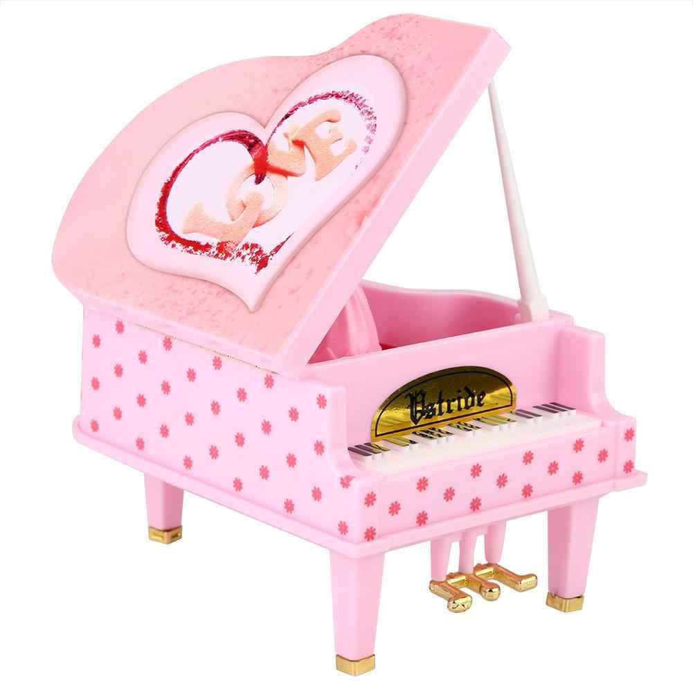 Деревянная музыкальная шкатулка пианино романтичная музыкальная шкатулка музыкальные шкатулки День рождения Юбилей День Святого Валентина подарок