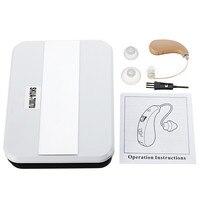 Mini Portable Hearing Aid Ear Amplifier Digital Sound Adjustable Tone Intelligence UV Box