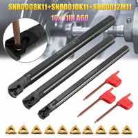 Nuovo 3 Set SNR0008K11 + SNR0010K11 + SNR0012M11 Tornio Noioso Bar In Acciaio Inox 3 Pcs chiave + 10x 11IR A60 inserire la Chiave