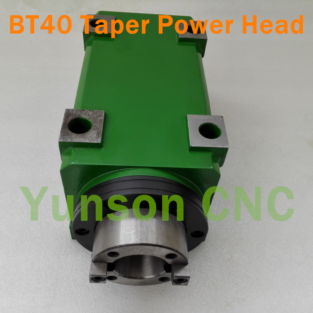 BT40 Taper Chuck 3000W 3KW 4hp Power Head Power Unit Machine Tool Spindle 5000 6000RPM for