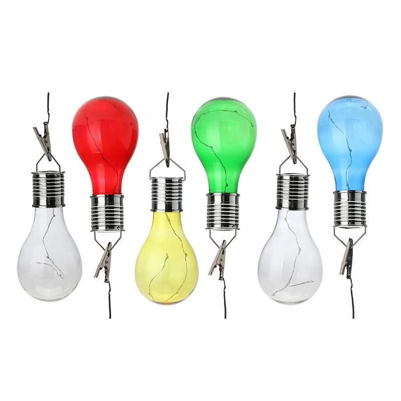solar copper colorful wire light bulb outdoor garden. Black Bedroom Furniture Sets. Home Design Ideas