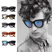 YOSOLO Vintage Sonnenbrille Fahren Sonnenbrille Wind Resistant Cat Eye Frauen Sonnenbrille Weiblichen Brillen Getönt Farbe Objektiv-in Motorrad-Brillen aus Kraftfahrzeuge und Motorräder bei