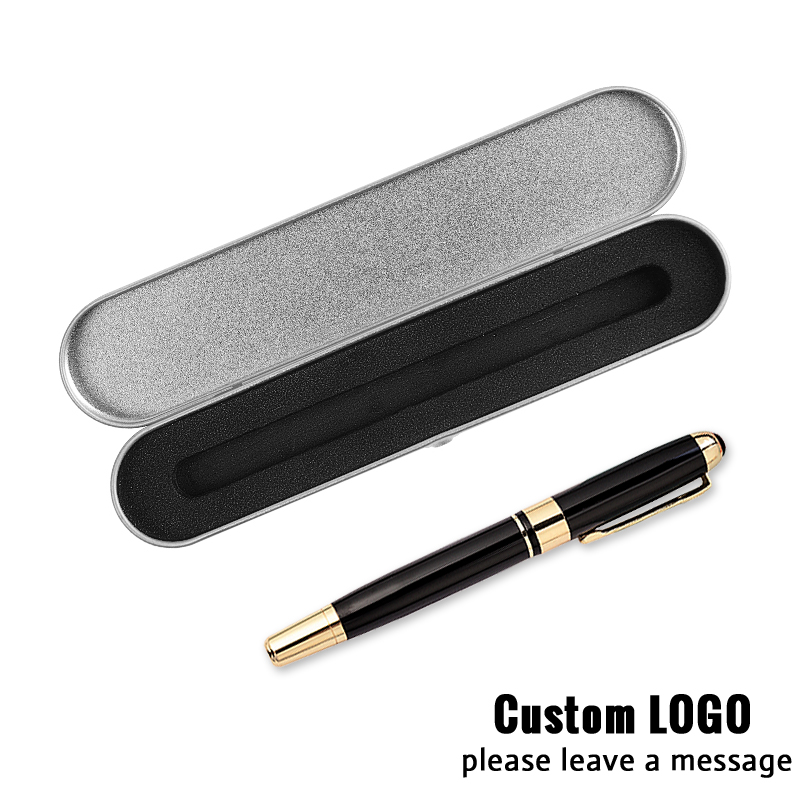 1pc Metal Business Gel Pens Advertising Gift Pens Office Signature Pen Student Stationery With A Box Laser Lettering Custom Logo in Ballpoint Pens from Office School Supplies