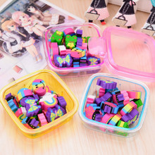 New 1 Set Rainbow Color Cartoon Butterfly Frog Box Series Creative Eraser Rubber Office & School Stationery 00630