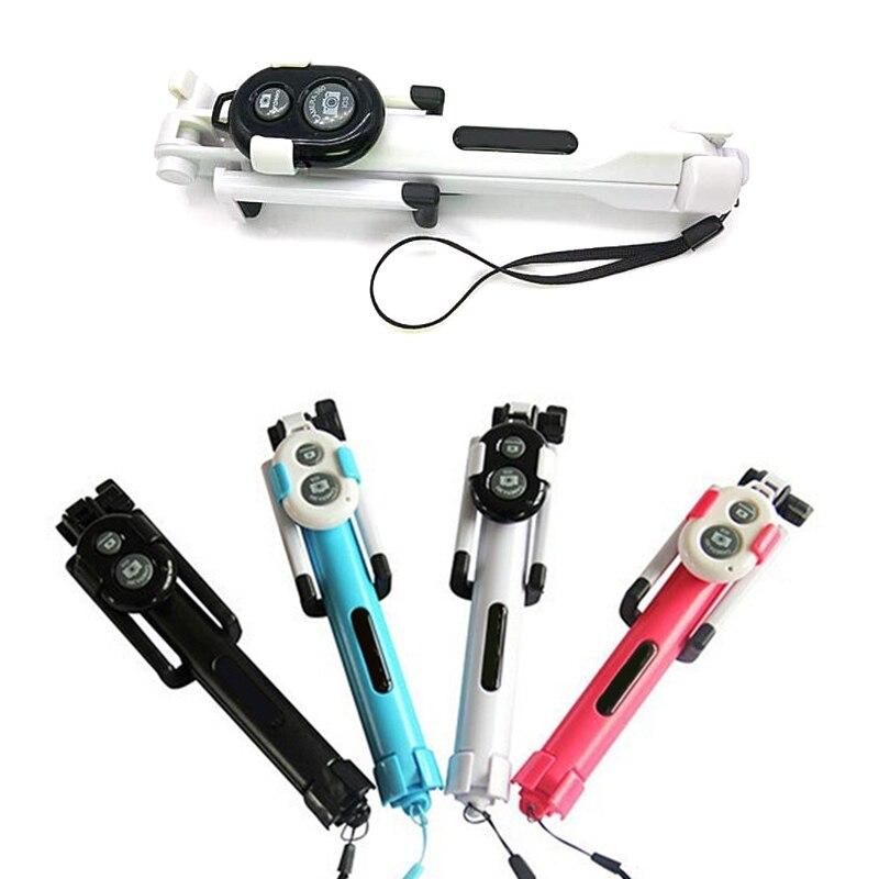 3 In 1 Gebaut In Bluetooth Selfie Stick-einbeinstativ Stativ Für Smartphone Selbstauslöser Stick