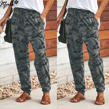 Женские камуфляжные штаны, повседневные розовые камуфляжные штаны, модные камуфляжные штаны с высокой талией, свободные женские брюки