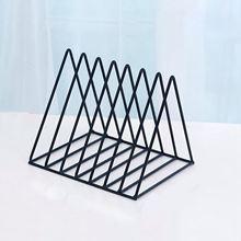 Нордический треугольник простой из кованого железа Настольный стеллаж для хранения полки файл журнал коробка для хранения офисная стойка ювелирные изделия