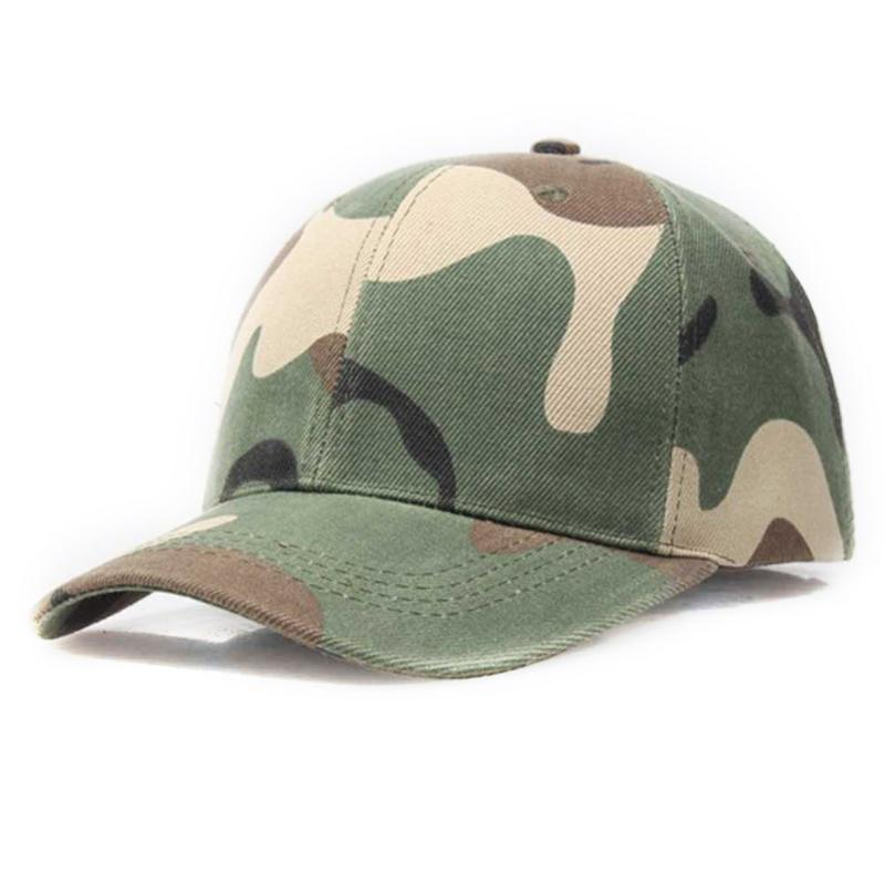 Men Women Army Camouflage Camo Cap Casquette Hat Climbing Outdoor Baseball Caps