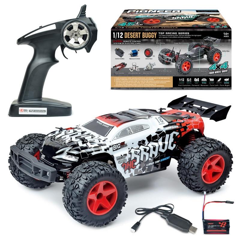 Nouveau garçon adulte jouet BG1518 1:12 échelle 40-50 km/h quatre roues motrices étanche RC course Truggy haute vitesse Rc dérive voiture vs 94123 - 2