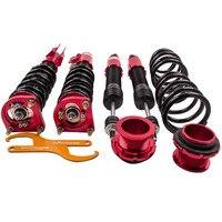 Kit de suspensão coilover para 94-04 ford mustang 4th amortecedor struts vermelho ajustável