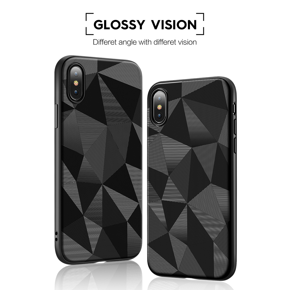 KISSCASE Abstract Geometric Case For Samsung S10 S10e Plus Soft TPU Phone Case For Samsung Note 9 Diamand Pattern Fundas in Fitted Cases from Cellphones Telecommunications