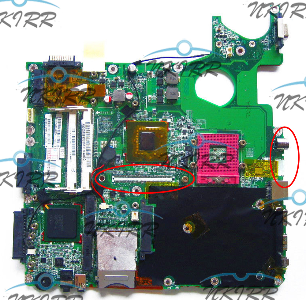 working and tested A000032390 A000041140 A000034540 DABL5SMB6E0 REV:E DDR2 MotherBoard for Toshiba Satellite P305 P300D P300