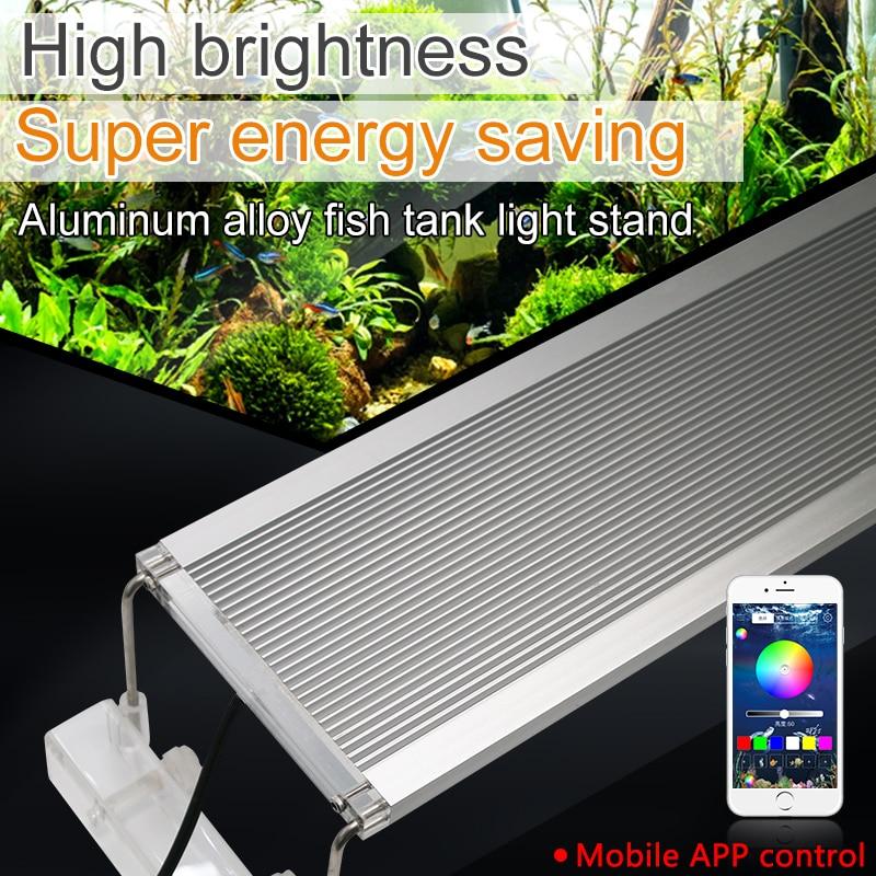 60-80cm Clip On Aquarium Led Lighting Marine RGB LED Aquarium Light For Fish Tank Led Aquarium Light Lamps Extendable Bracket
