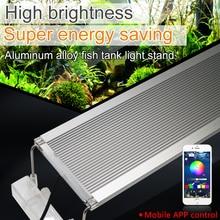 60-80cm Clip On Aquarium Led Lighting Marine RGB LED Light For Fish Tank Lamps Extendable Bracket