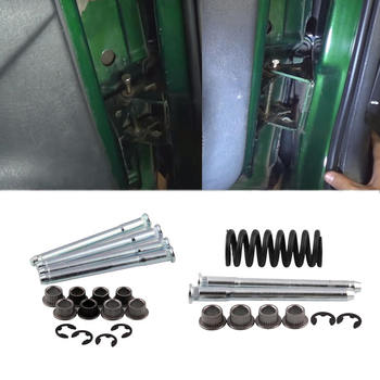 Zawiasa drzwiowa szpilki zestaw pinów 2 drzwi dla 1994-2004 Chevy S10 i GMC S15 tanie i dobre opinie SPEORX RUIYYT 33016215918 iron full door hinge Drzwi zawias Z tyłu na zawiasach 300g 6 5cm Po lewej stronie Bolt-on
