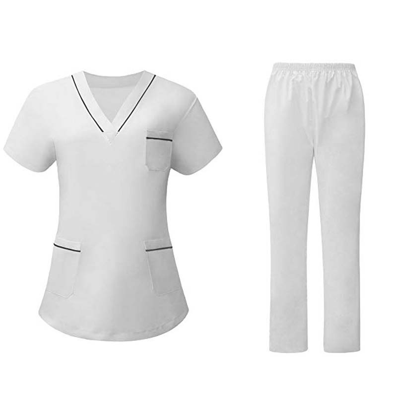Women's Scrubs Set Contrasting Color Design Medical Nursing Uniform. / Nurses Accessories For Hospital   /
