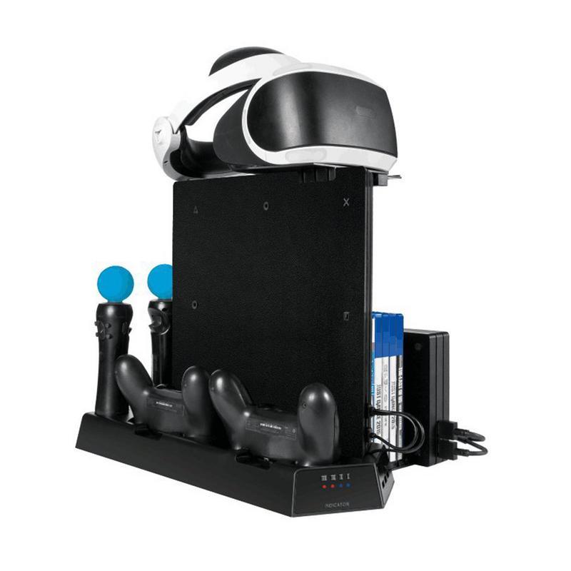 Support de chargement multifonction support de disque de chargeur de radiateur pour PS4/PS4 Slim/PS4 Pro/PS4 VR contrôleur