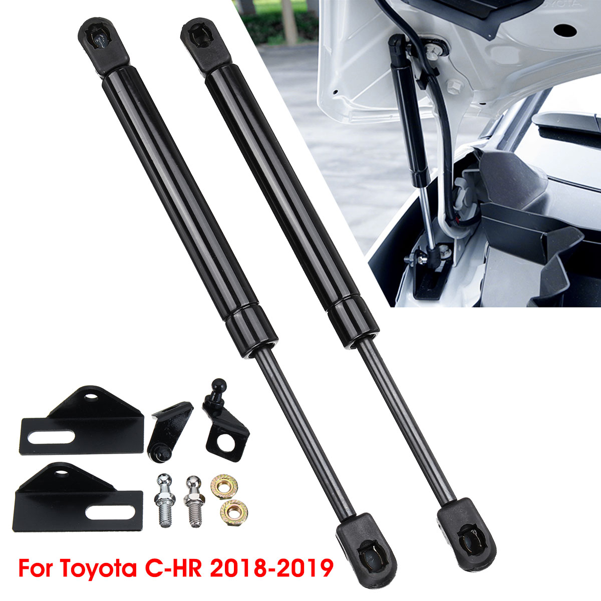 1 RIGHT FRONT HOOD LIFT SUPPORT SHOCK STRUT ARM PROP ROD DAMPER