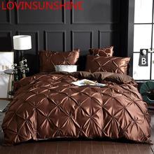 LOVINSUNSHINE Bettwäsche Set Bettbezug König Größe Luxus Bettbezug Bettwäsche Set König Größe Seide AC04 #