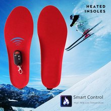 Best gift warm Heated insoles soles Winter thick plush insoles with fur keep feet warm and