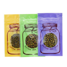 цена на DHL Free Shipping 1500pcs/lot Three Colors 6*10cm Reclosable Top Zip Lock Plastic Bag Package Pouch With Round Clear Window