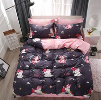 Cartoon Rainbow Unicorn Duvet Cover Bedding Set Twin Queen King Size Teens Girls Boys Kids Bed Linen Bed Sheet Pillowcase59