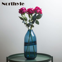 Water theme glass vase modern flower home decoration terrarium wedding bottle floor