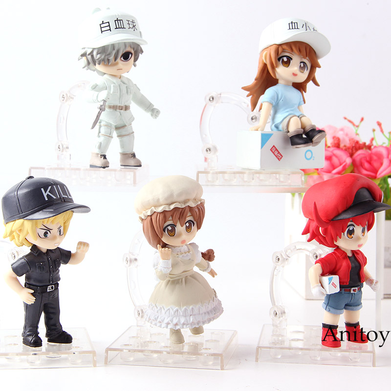 With Flag Action Figure Collectible Model Toys For Boys Great Varieties 16cm Japanese Anime Figure Platelet Cells At Work Action & Toy Figures