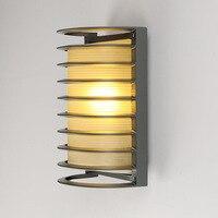 5pcs Modern LED Wall Lamp 15w AC 110v 220v For Lobby Hotel Villa Outdoor Waterproof Semi circle Aluminum Wall Lamp