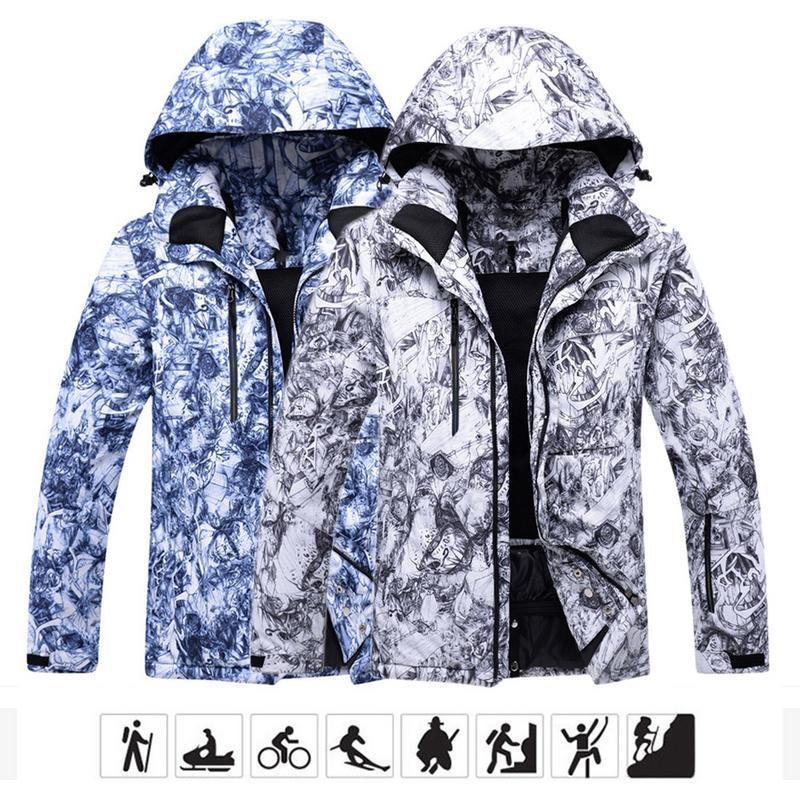 Мужская ветрозащитная ветровка теплый лыжный костюм однобортовая двухбортовая водостойкая теплая уличная Лыжная одежда