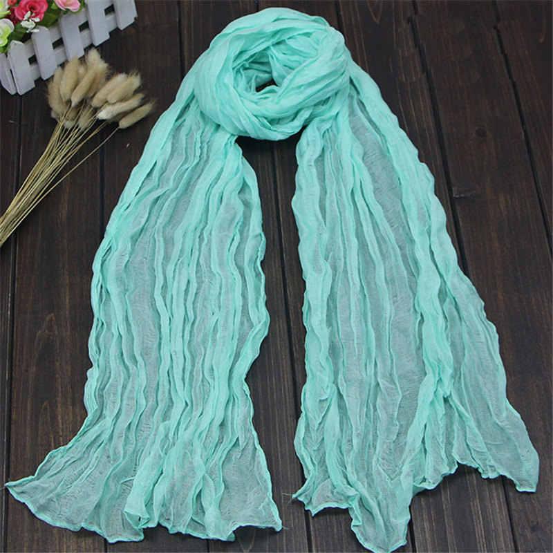 Дамская зимняя льняная длинная вуаль шаль тонкий мягкий шарф для женщин карамельного цвета теплый