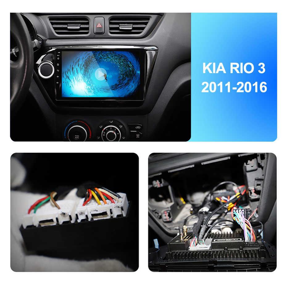 2Din 9 inç Android7.1 araba radyo multimedya Video oynatıcı navigasyon GPS KIA K2 RIO3 aksesuarları Sedan Hatchback 2011-2016Auto