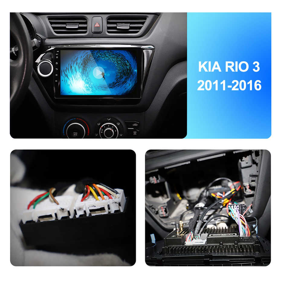 2Din 9Inch Android7.1 Auto Radio Multimedia Video Player Navigatie Gps Voor Kia K2 RIO3 Accessoires Sedan Hatchback 2011-2016Auto