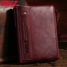 Купить с кэшбэком Gzcz Genuine Leather Women Wallets Luxury Mini Purse Card Holder Bifold Fashion Clamp For Money Rfid Red Walet Carteira Feminina