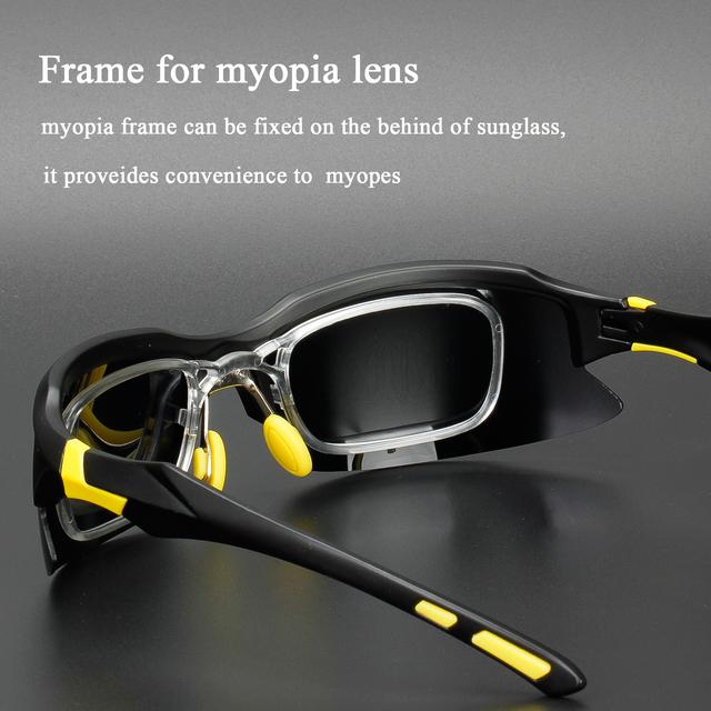 Comaxsun Professional Polarized Photochromic Cycling Glasses Bike Goggles  Sports MTB Bicycle Sunglasses Eyewear Myopia Frame UV 400