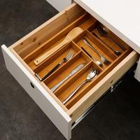 Bamboo Drawer Storage Box Tableware Storage Box Kitchen Drawer Organizer