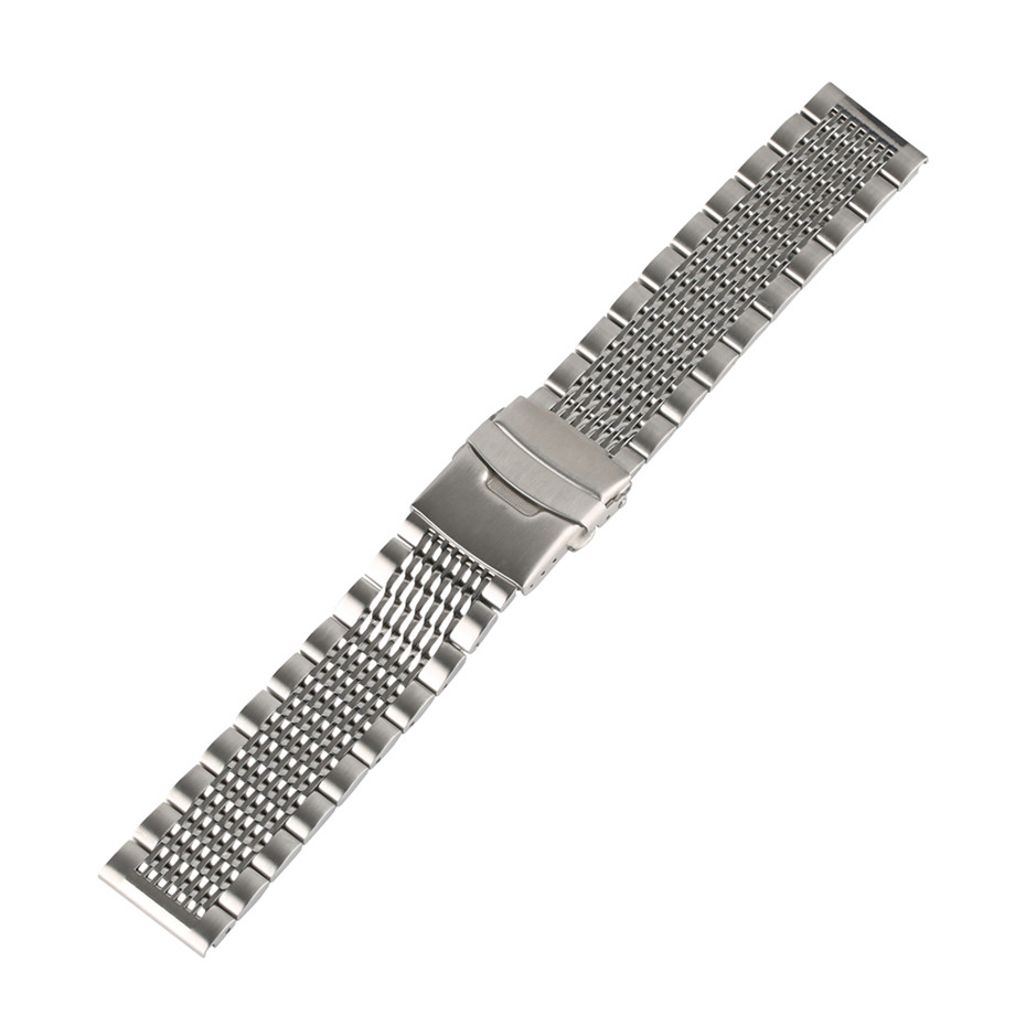 Image 3 - Stainless Steel 22mm Black/Silver Soild Watchband for Men Watches Metal Straps Bracelet Clock Replacement Watch Band Luxury-in Watchbands from Watches