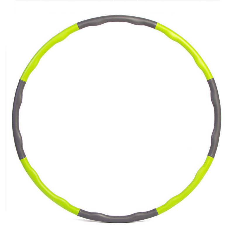 Removable 8 Sections Fitness Hoop Foam Hoop Adult Sport Hoop Gym Bodybuilding Sports Crossfit Workout Fitness Equipment